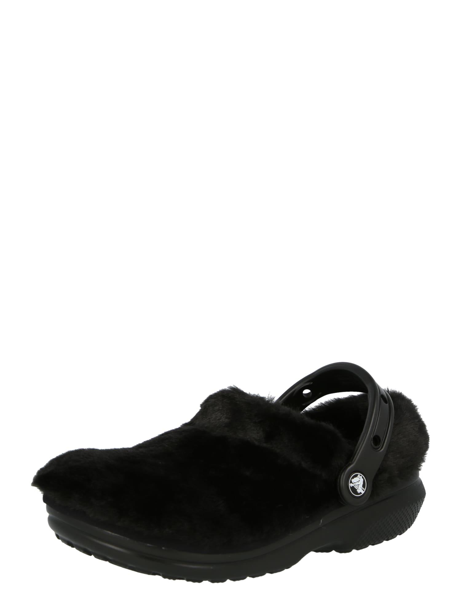 Crocs Sabots 'Classic Fur Sure'  - Noir - Taille: M9W11 - male