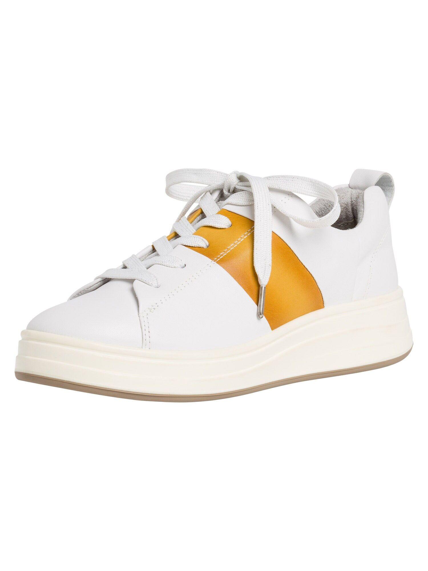 TAMARIS Baskets basses  - Blanc, Jaune - Taille: 39 - female