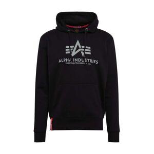 Alpha Sweat-shirt 'Basic Hoody Reflective Print'  - Noir - Taille: M - male - Publicité