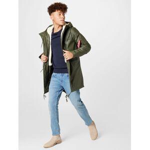 Alpha Parka mi-saison  - Vert - Taille: XL - male - Publicité