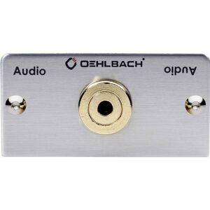 Oehlbach Dispositif multimédia Oehlbach PRO IN MMT-C AUDIO-35 0.27 m argent contacts dorés - Publicité