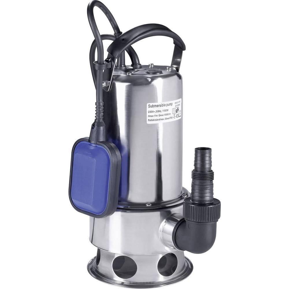 Renkforce 1100 W Pompe submersible pour eaux chargées 15500 l/h 10.5 m