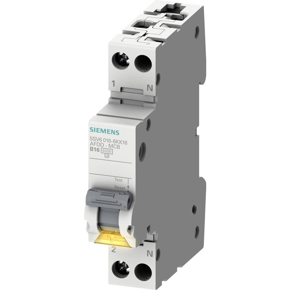 Siemens Disjoncteur contre lincendie Siemens 5SV6016-6KK16 5SV60166KK16 Taille du fusible: 1 2 pôles 16 A 230 V 1 pc(s)