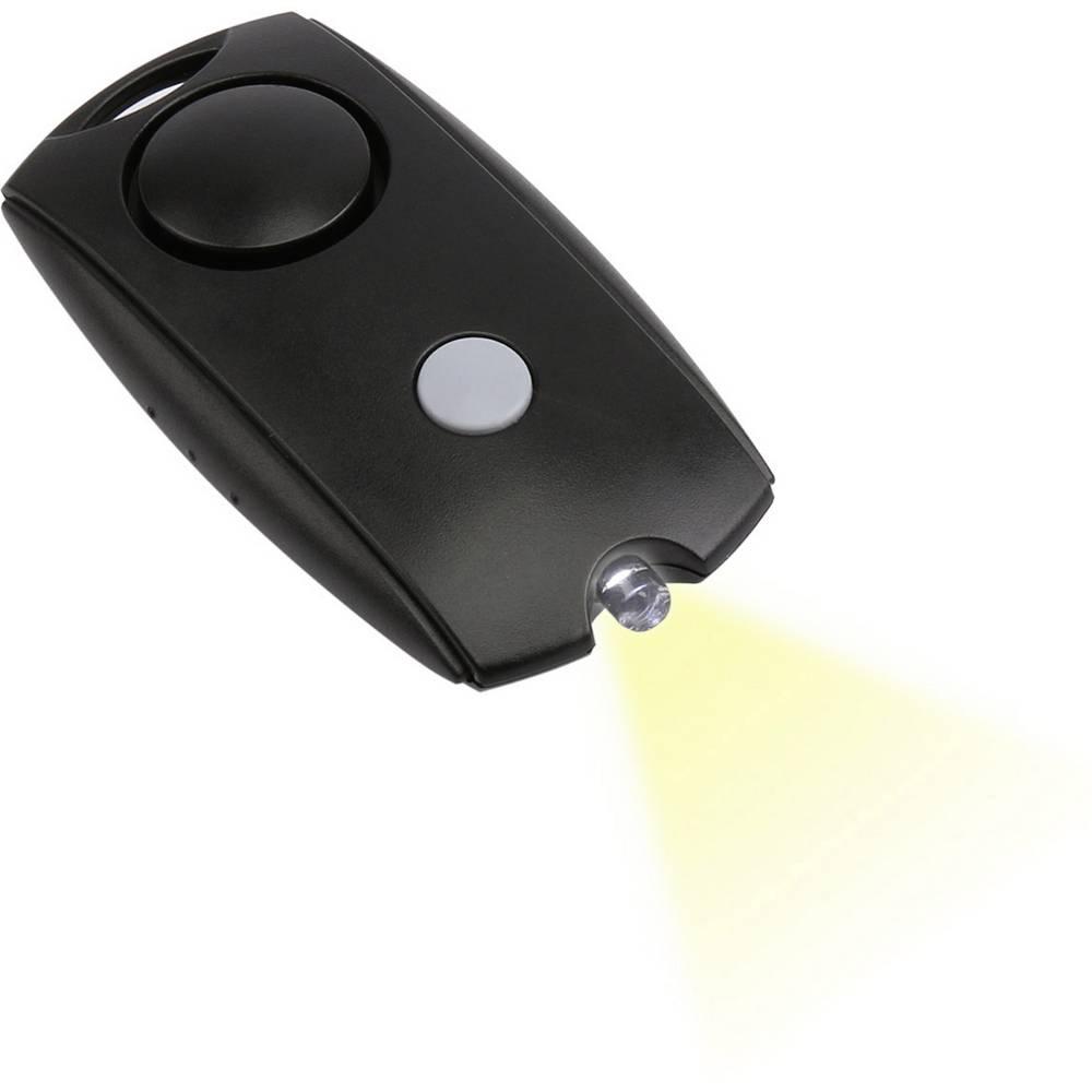 Olympia Alarme de poche Olympia PA 10 5968 noir avec LED 100 dB 1 pc(s)