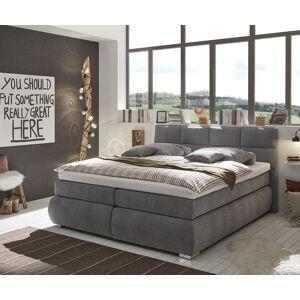 DELIFE Lit-à-sommier-tapissier Berat 180x200 Gris Lit Tiroir Matelas Surmatelas - Publicité