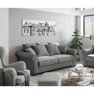 DELIFE Canapé Caline 2 places vintage en velours gris avec coussins - Publicité