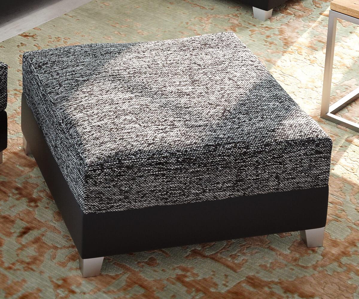 DELIFE Tabouret Panama L72 x P72 module noir en tissu structuré