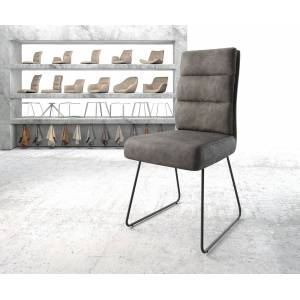 DELIFE Chaise de salle à manger Pela-Flex anthracite vintage cadre patin noir - Publicité