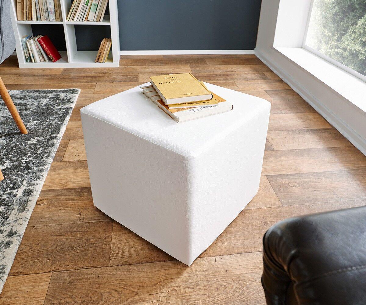DELIFE Siège Dado cube 45x45 cm tabouret classique blanc