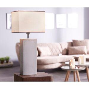 DELIFE Lampe-de-table Carissima grise 30x20 tissu abat-jour base béton - Publicité