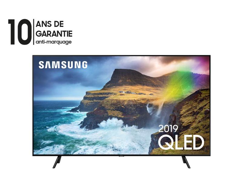 Samsung TV QLED 65Q70R, Ecran Quantum Dot, Full LED Silver