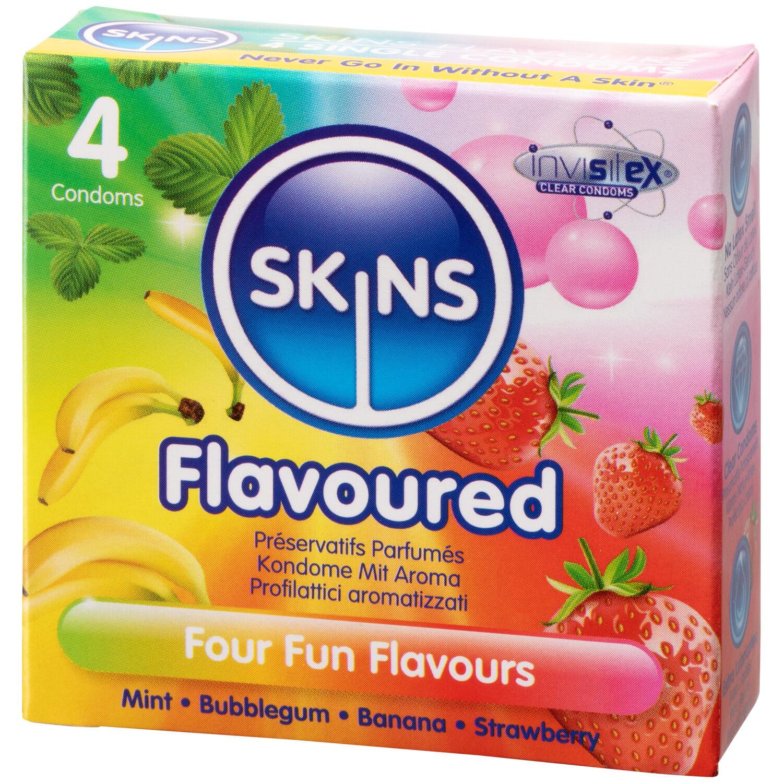 Skins Assortiment de 4 Préservatifs Aromatisés
