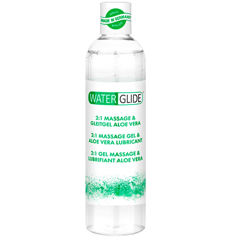 Waterglide Aloe Vera 2 en 1 Huile de Massage et Lubrifiant 300 ml