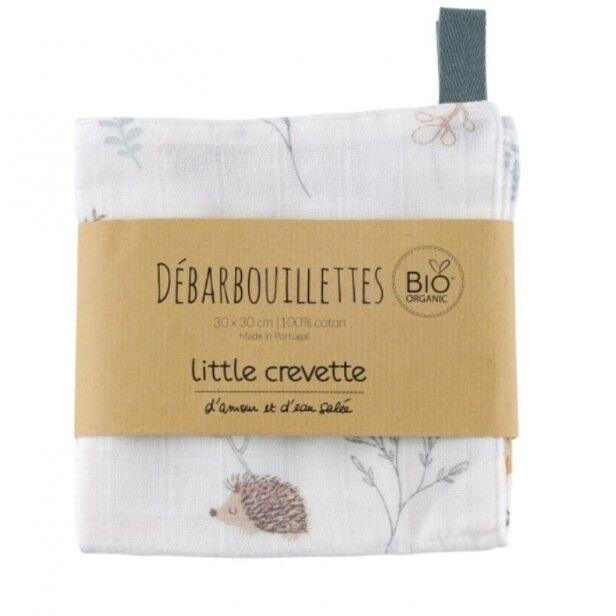Little Crevette Lot de 2 Maxi-Lingettes Lavables Dream Forest