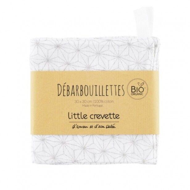 Little Crevette Lot de 2 Maxi-Lingettes Lavables Pompon