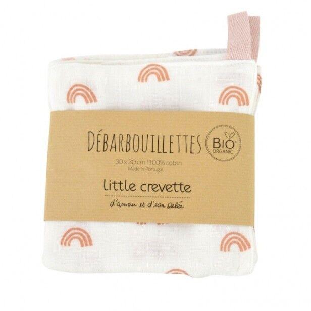 Little Crevette Lot de 2 Maxi-Lingettes Lavables Rainbow