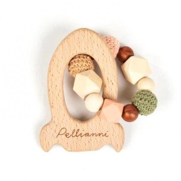 Pellianni Hochet Dentition Bois & Silicone - Automne