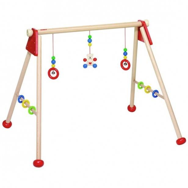 Heimess Nature Baby Gym en Bois Ours & Coeur