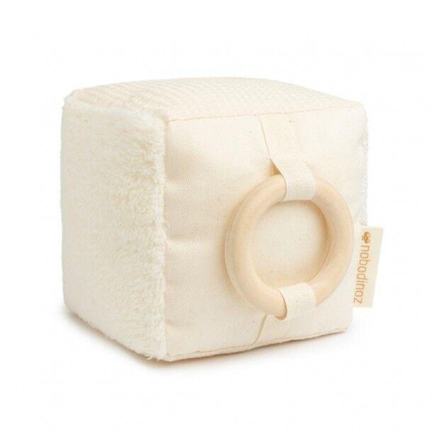 Nobodinoz Cube d'Éveil Sensoriel en Coton Bio