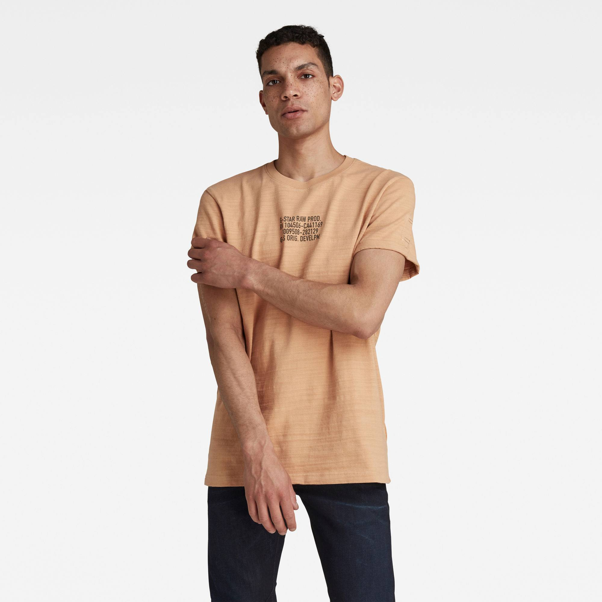 G-star RAW Hommes T-shirt Chest Text Graphic Lash Rose  - Taille: L XXL XS XL S M