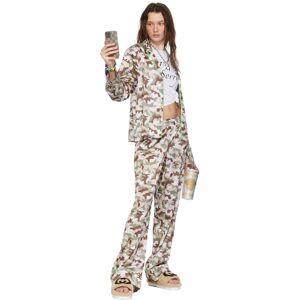 I'm Sorry by Petra Collins Ensemble de chemise et de pantalon de survêtement gris à motif camouflage exclusif à SSENSE - 24 - Publicité