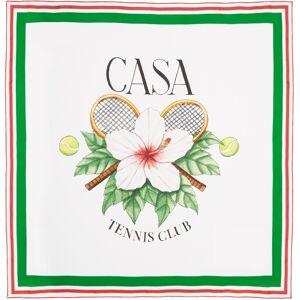 Casablanca Foulard en soie blanc Large 'Tennis Club' - UNI - Publicité