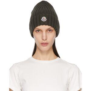 Moncler Bonnet en laine à logo kaki - 54 - Publicité