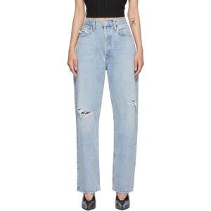 AGOLDE Jean ample 90s bleu à taille mi-haute et effet usé - 26 - Publicité