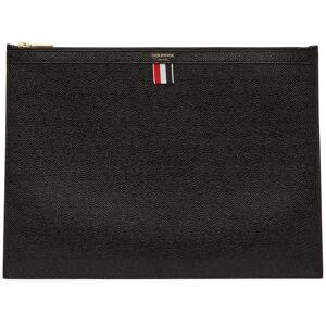 Thom Browne Grande pochette pour ordinateur portable noire à glissière - UNI - Publicité