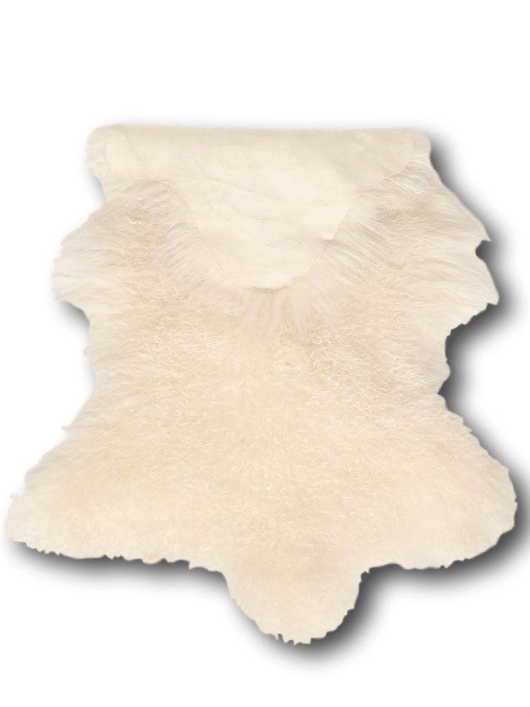 Dimehouse Peau De Mouton Blanc 100 x 70 cm Frisé