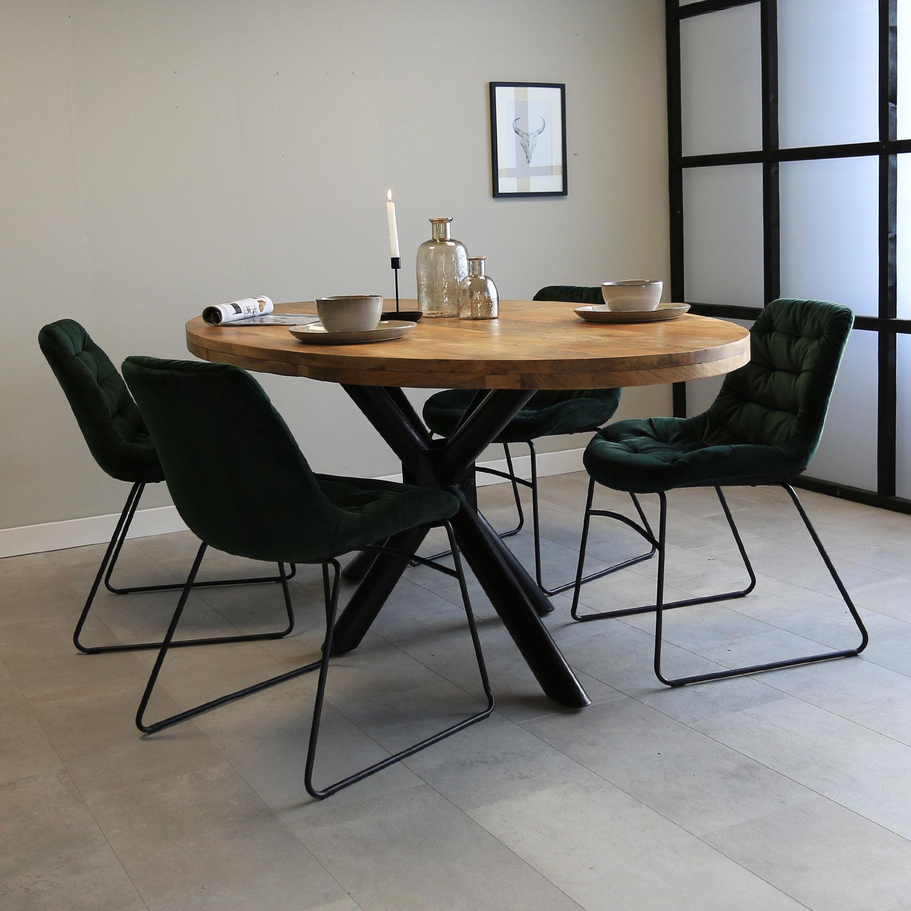 Dimehouse Oregon Table À Manger Industrielle Ovale 240x110 cm
