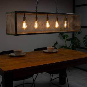 Dimehouse Brighton Suspension Industrielle 5 Ampoules Métal - Publicité