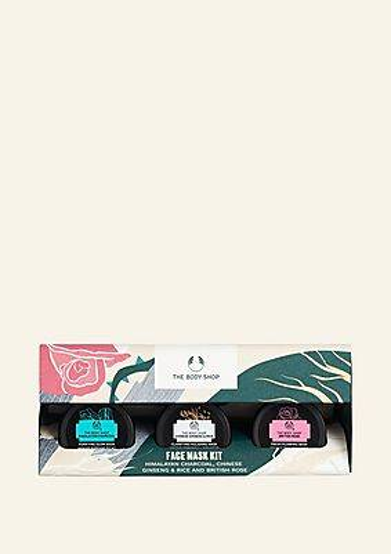 The Body Shop Coffret Masques Visage Charbon De Bois De L'himalaya, Ginseng & Riz Chinois Et British Rose 1 Article