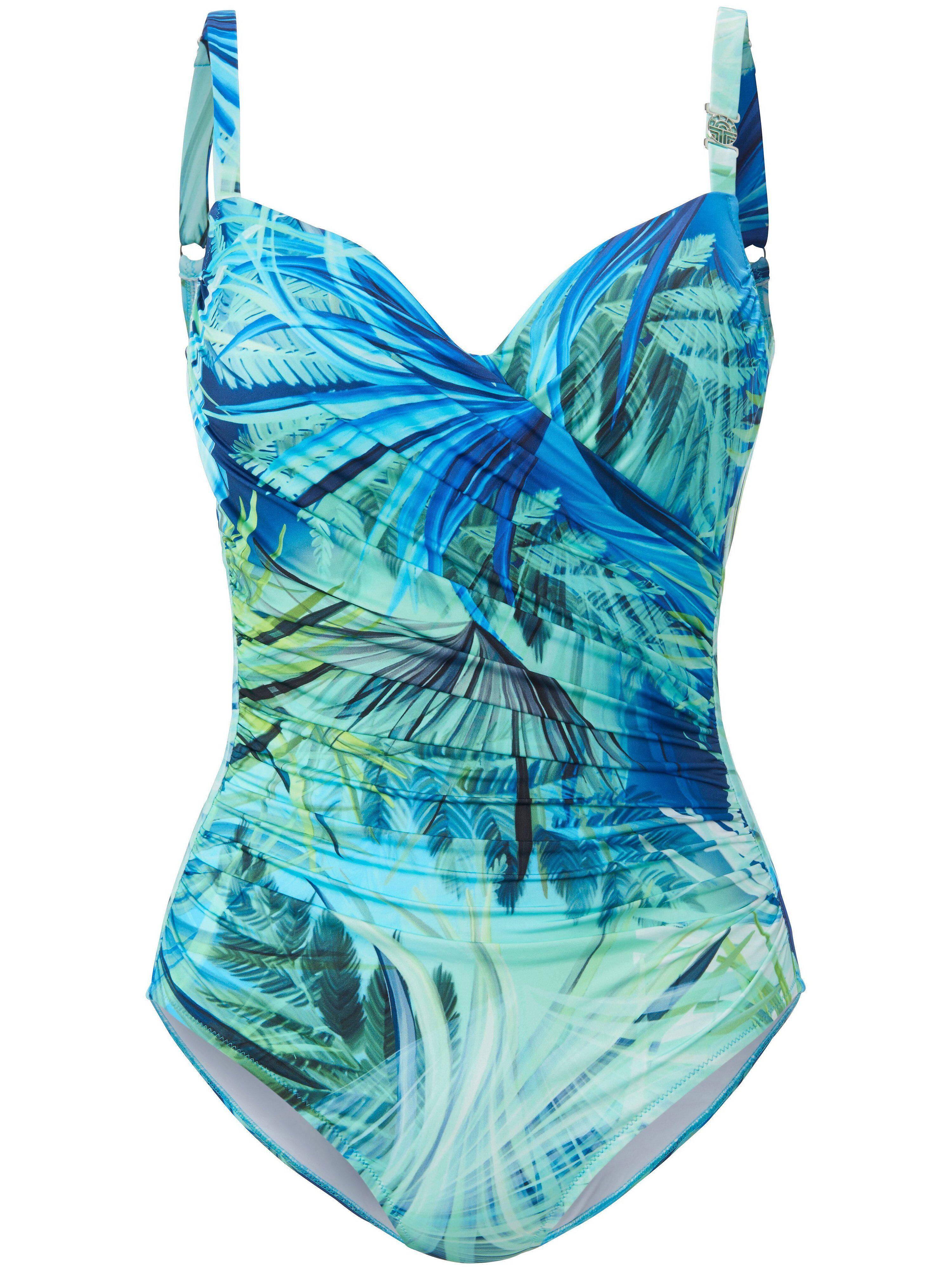 Féraud Le maillot bain imprimé feuilles  Féraud turquoise  - Femme - 40