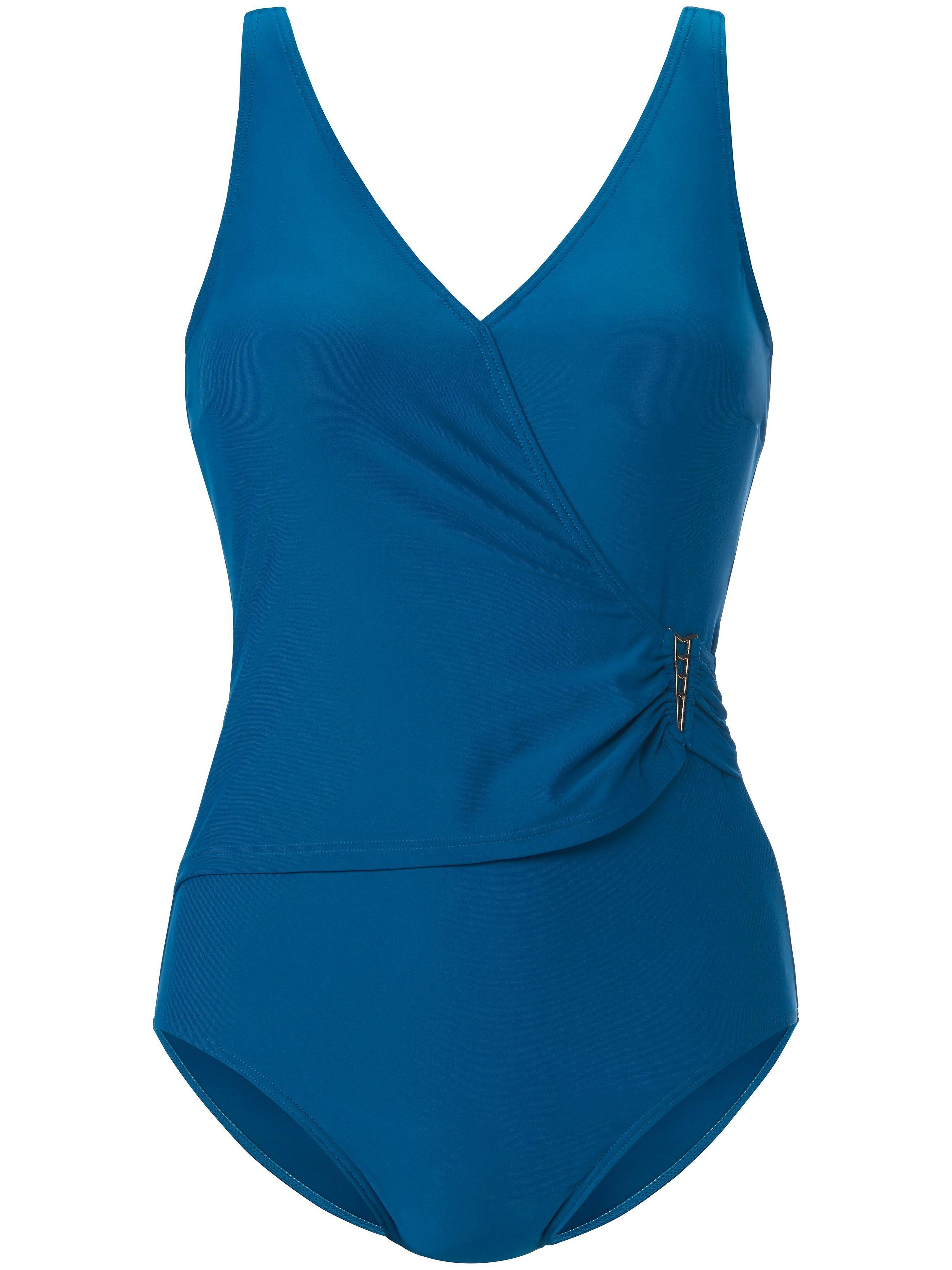 Naturana Le maillot bain semi-bustier style croisé  Naturana turquoise  - Femme - 46
