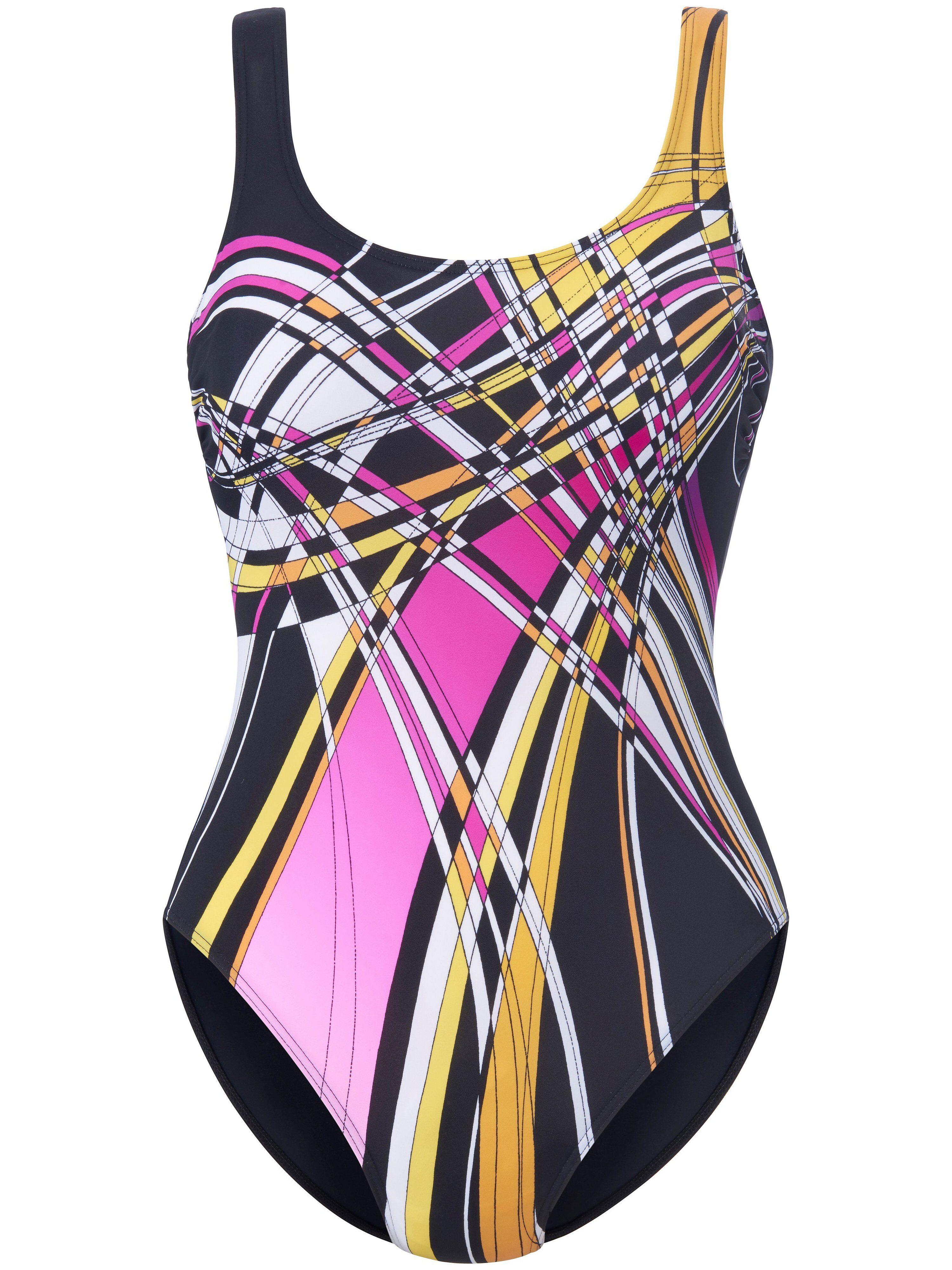 Sunmarin Le maillot bain avec imprimé graphique devant  Sunmarin noir  - Femme - 40