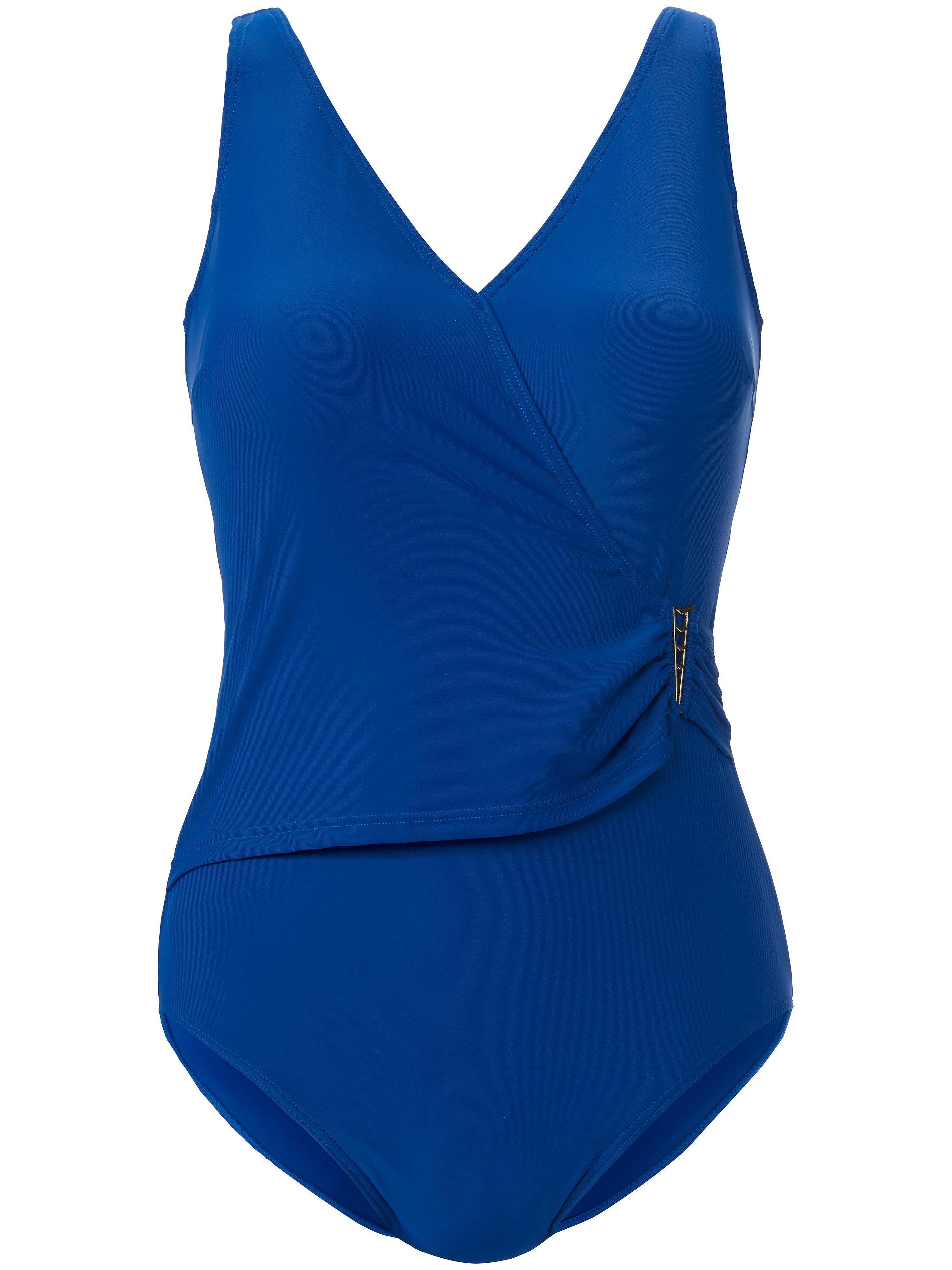 Naturana Le maillot bain semi-bustier style croisé  Naturana bleu  - Femme - 44