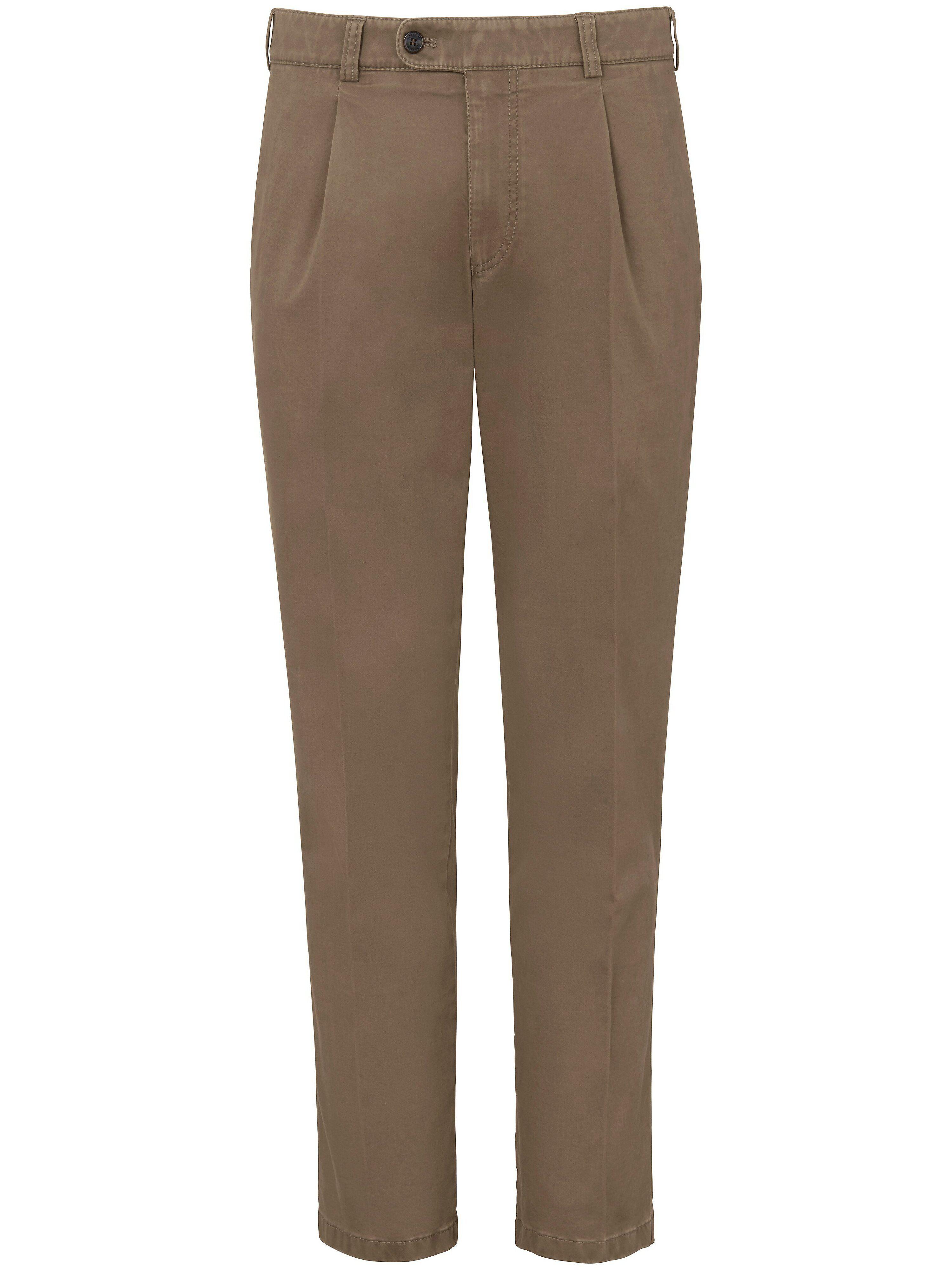 Brax Le pantalon chaud à pinces modèle Luis  Eurex by Brax beige  - Homme - 25