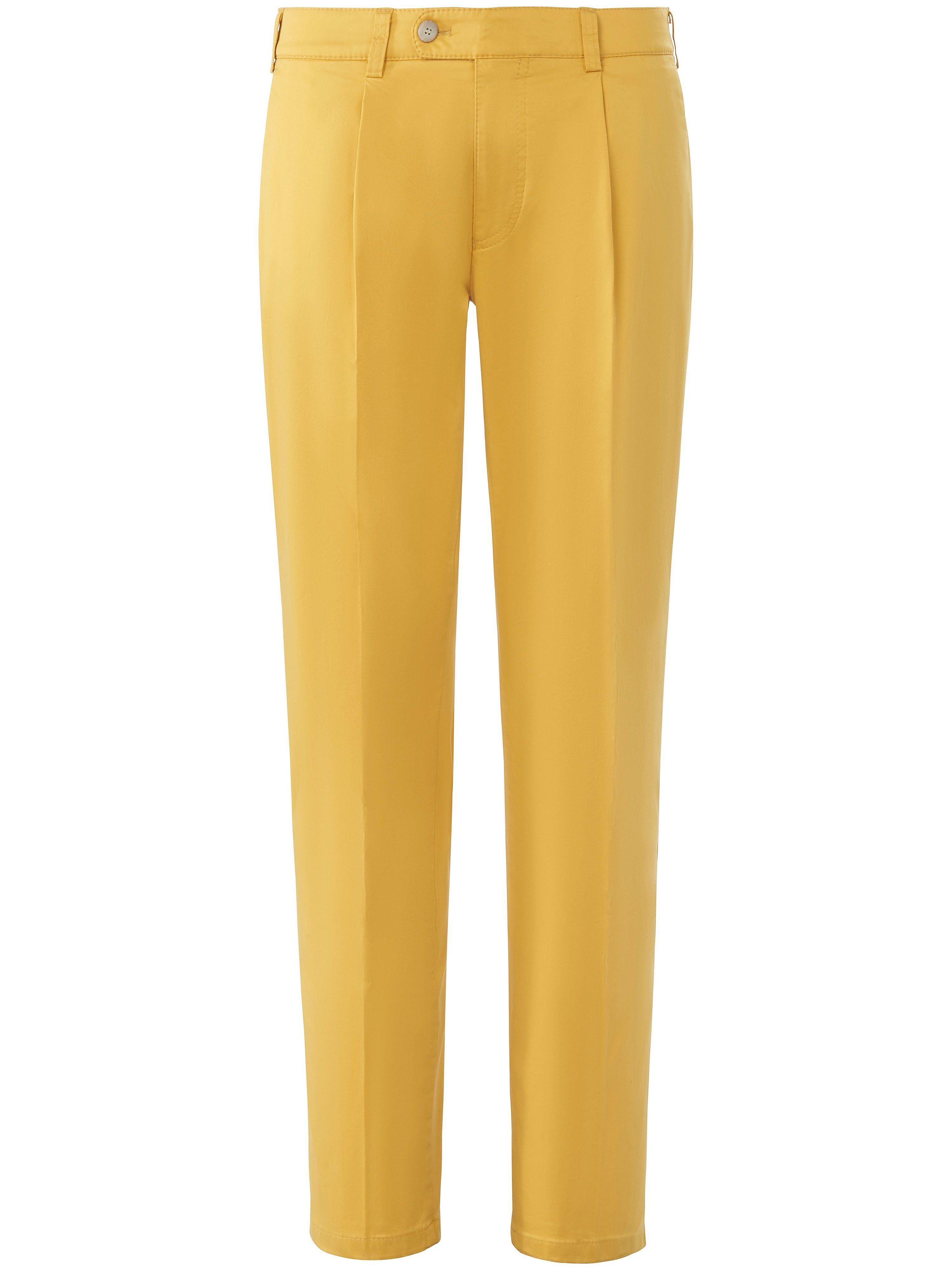 Brax Le pantalon à pinces modèle Luis  Eurex by Brax jaune  - Homme - 28