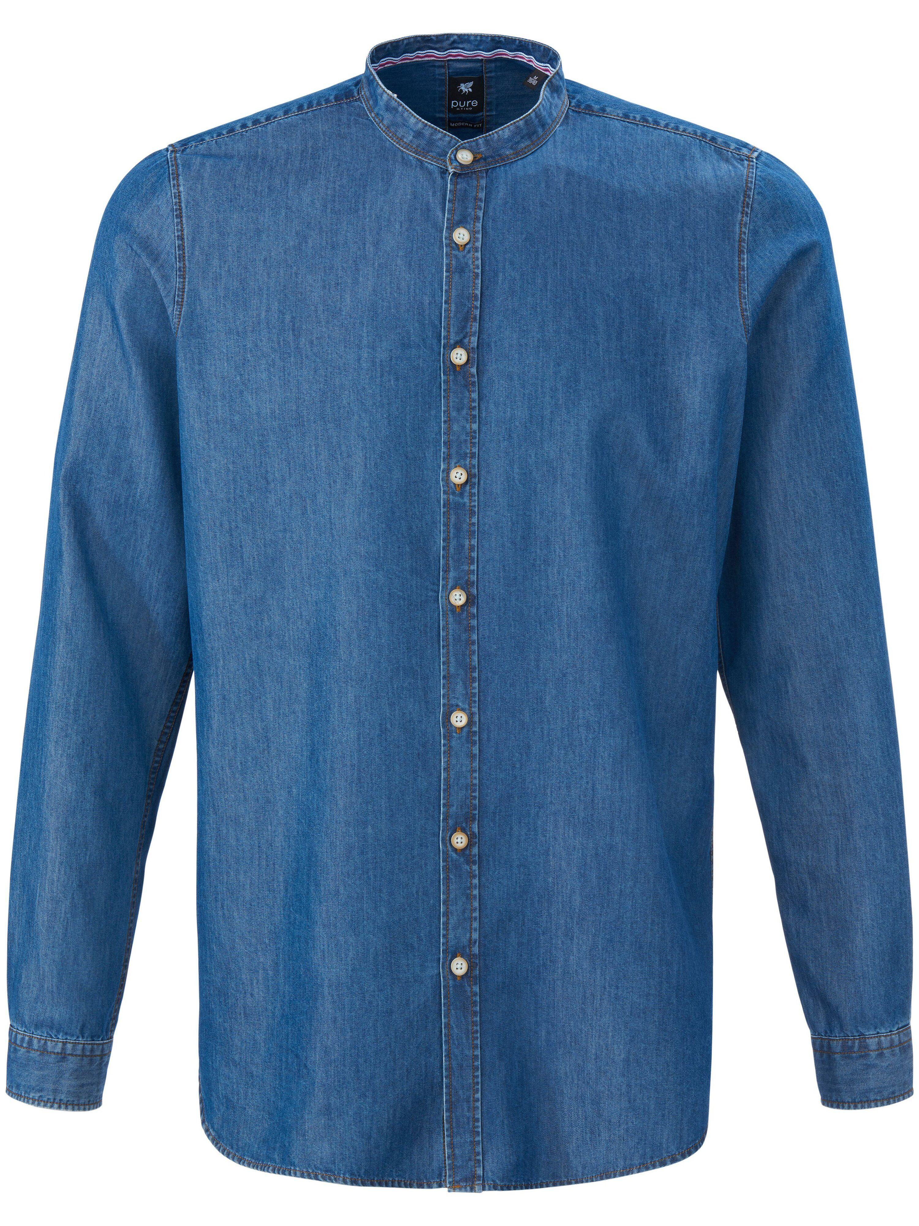 Hatico La chemise en jean avec col montant  Pure denim  - Homme - 39/40