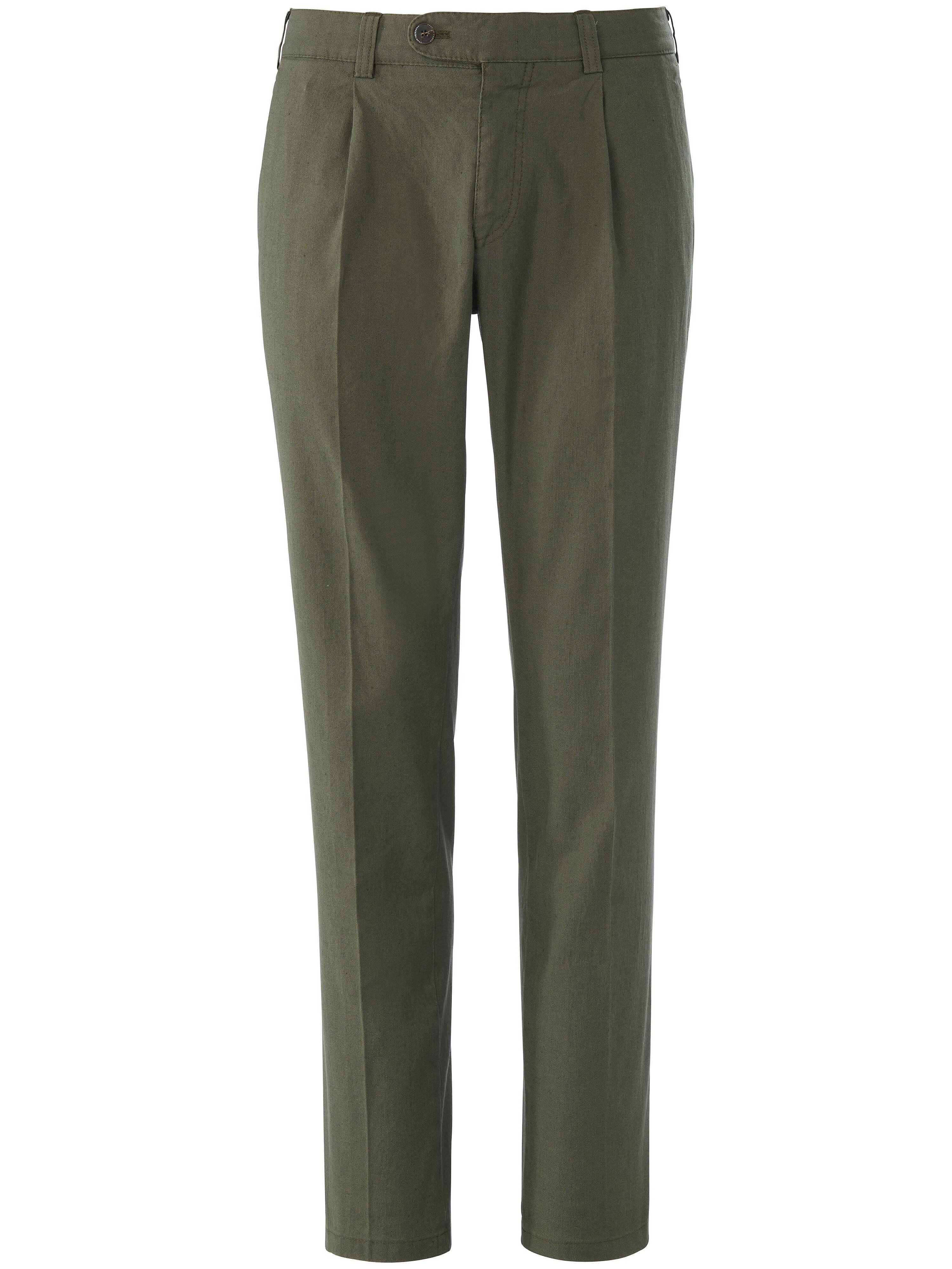 Brax Le pantalon à pinces modèle Luis  Eurex by Brax vert  - Homme - 25