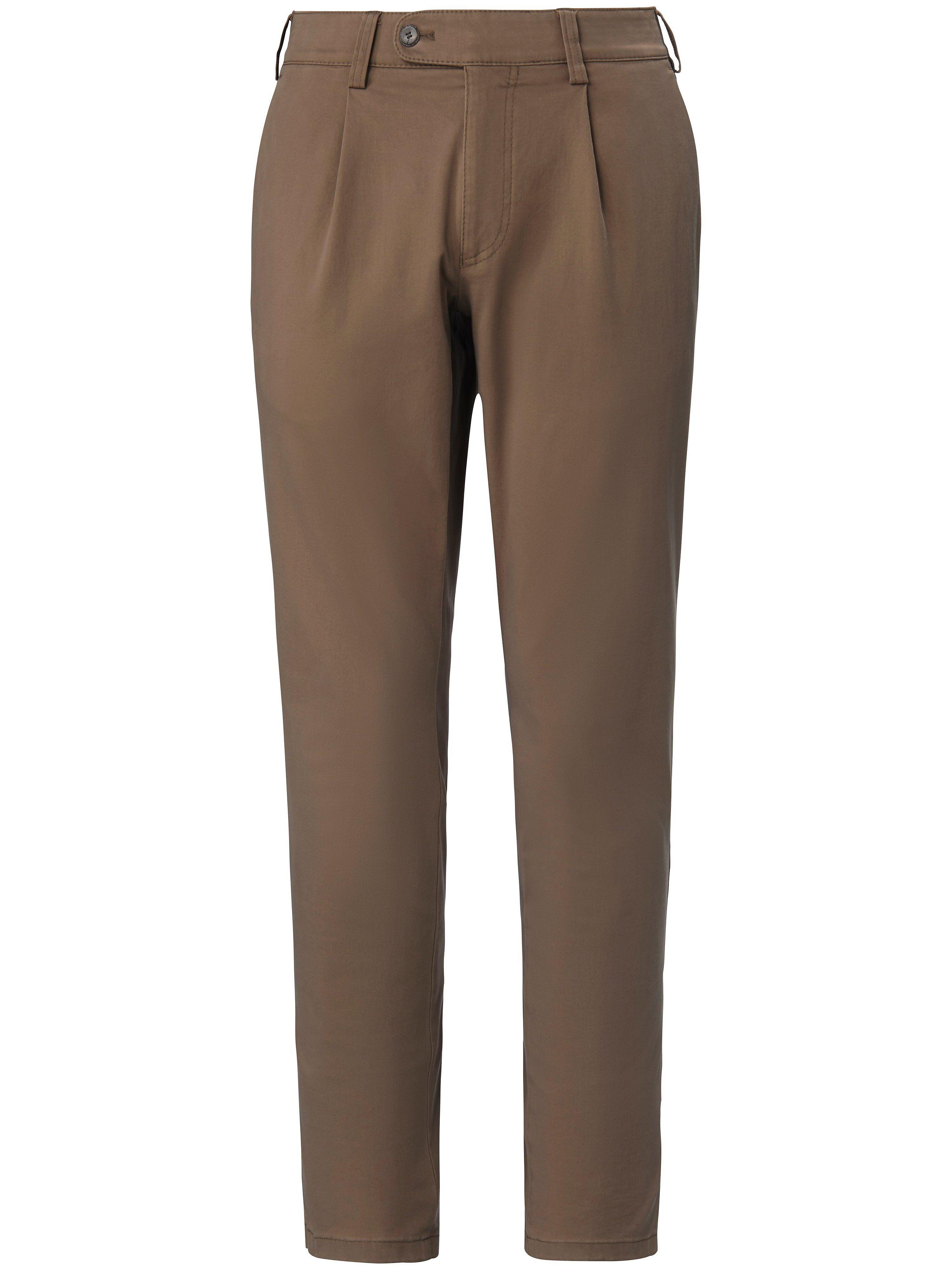 Brax Le pantalon à pinces modèle Luis  Eurex by Brax marron  - Homme - 25