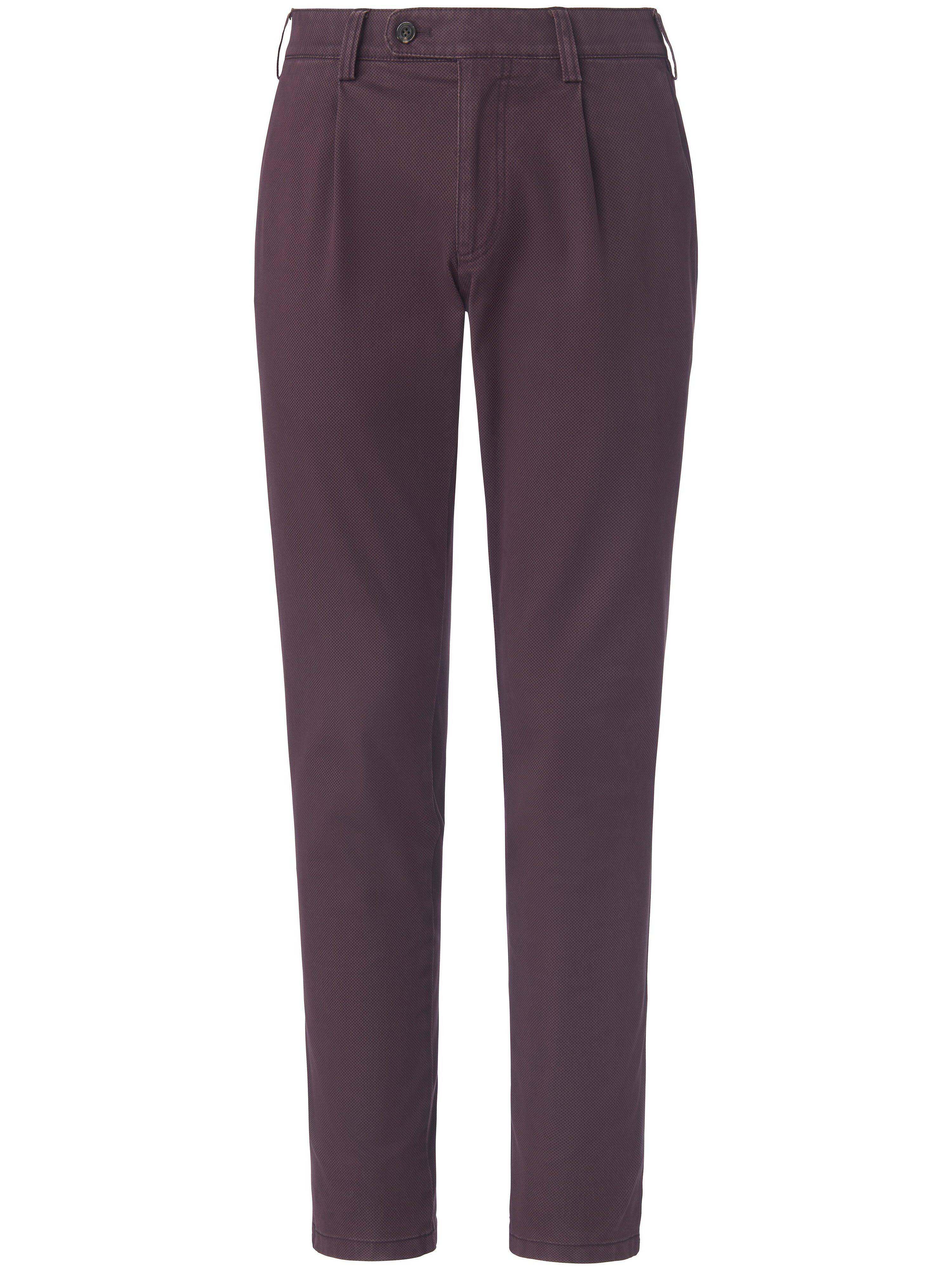 Brax Le pantalon à pinces modèle Luis  Eurex by Brax mauve  - Homme - 25