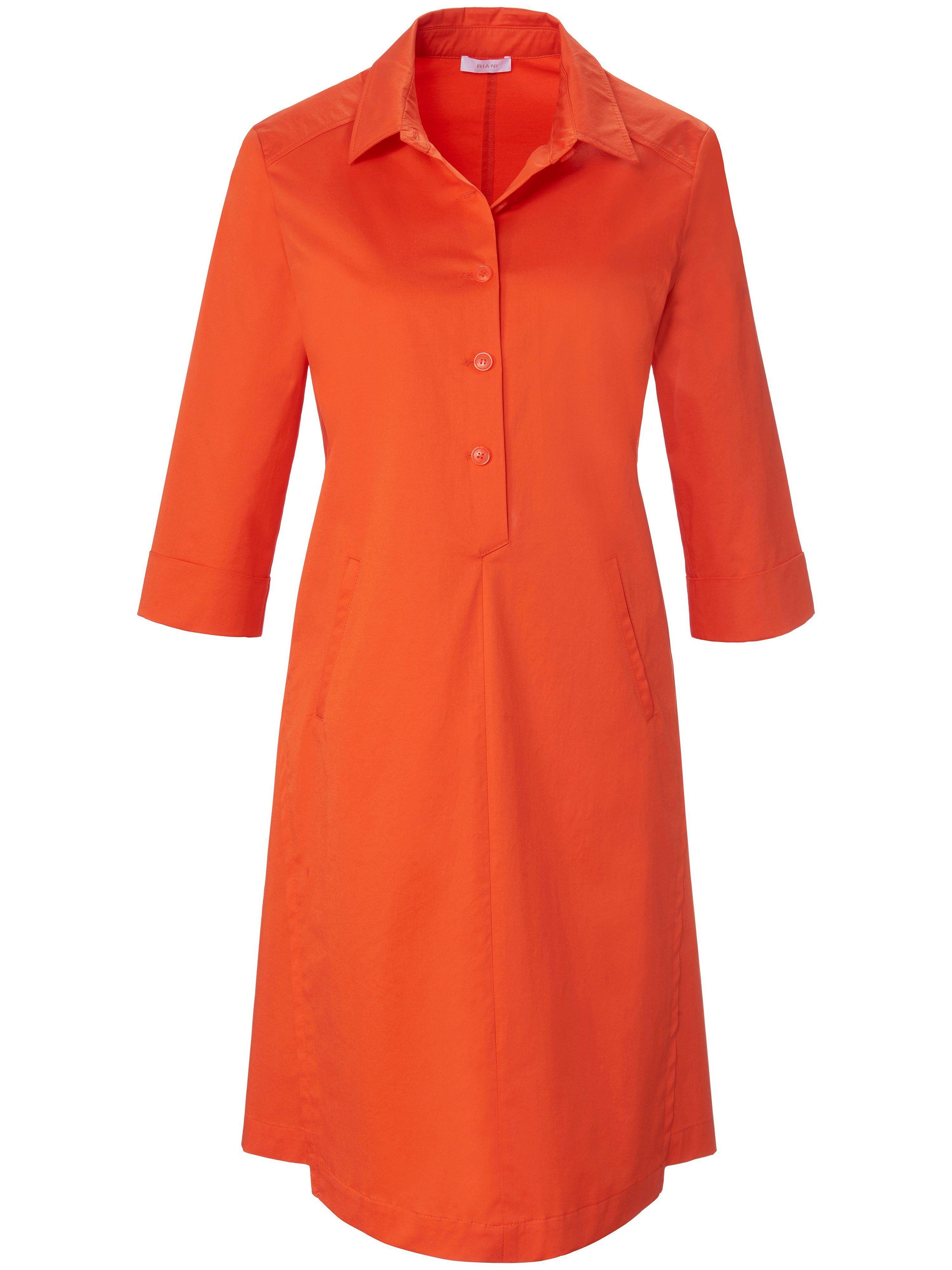 Riani La robe ligne chemisier manches 3/4  Riani orange  - Femme - 38