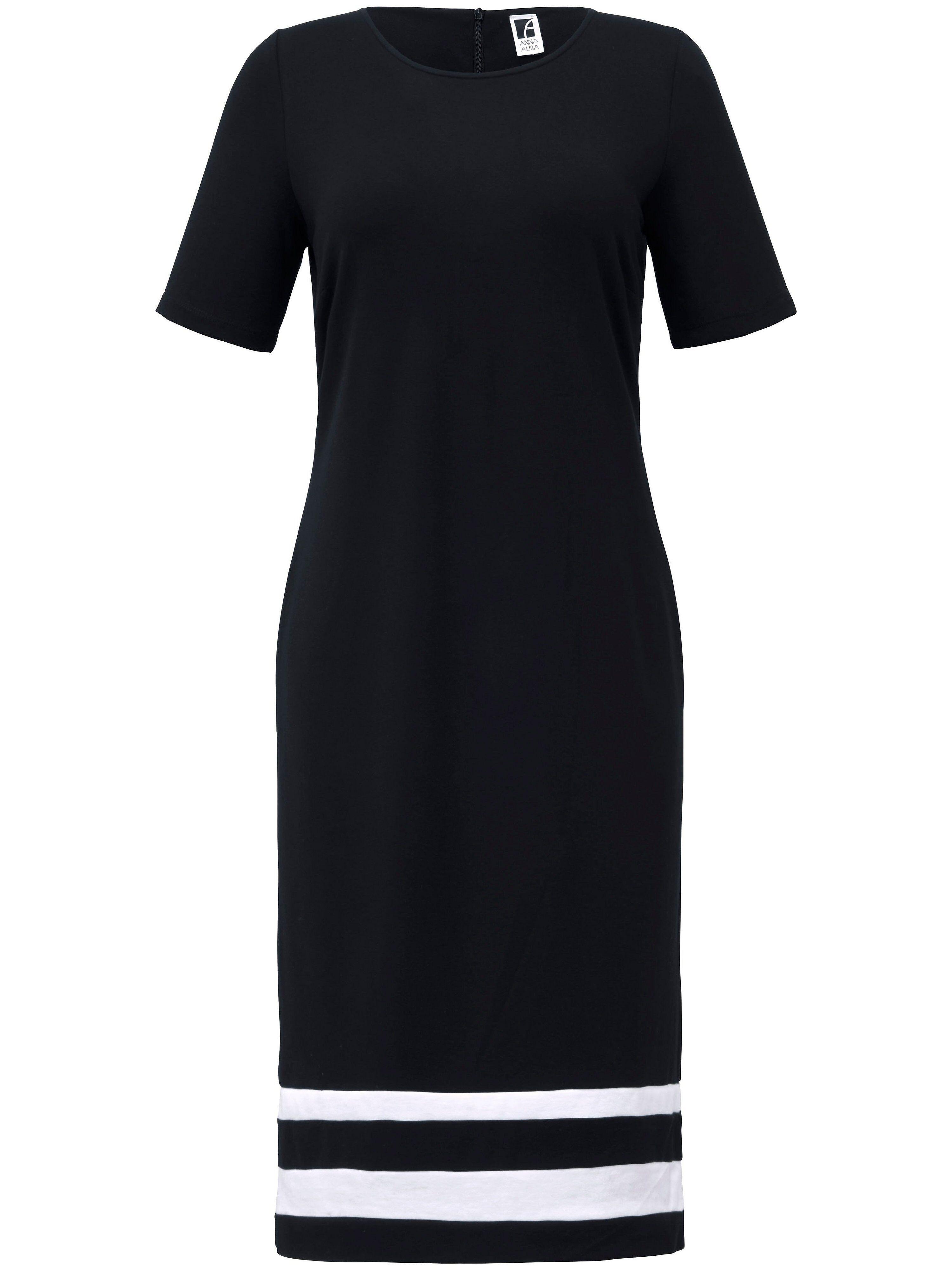 Anna Aura La robe en jersey, ligne fourreau, manches courtes  Anna Aura noir  - Femme - 44