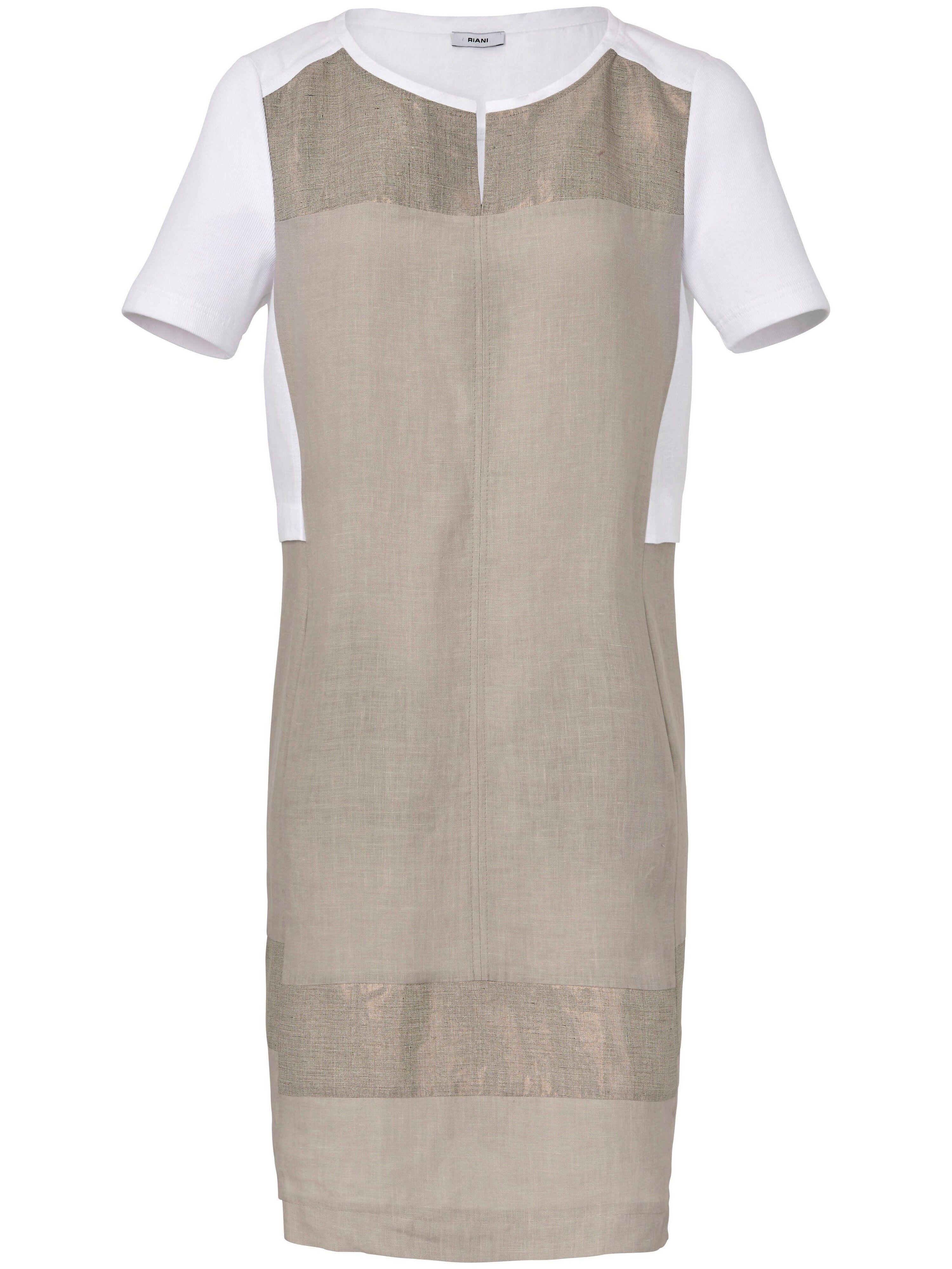 Riani La robe à manches courtes en pur lin, ligne droite  Riani beige  - Femme - 42