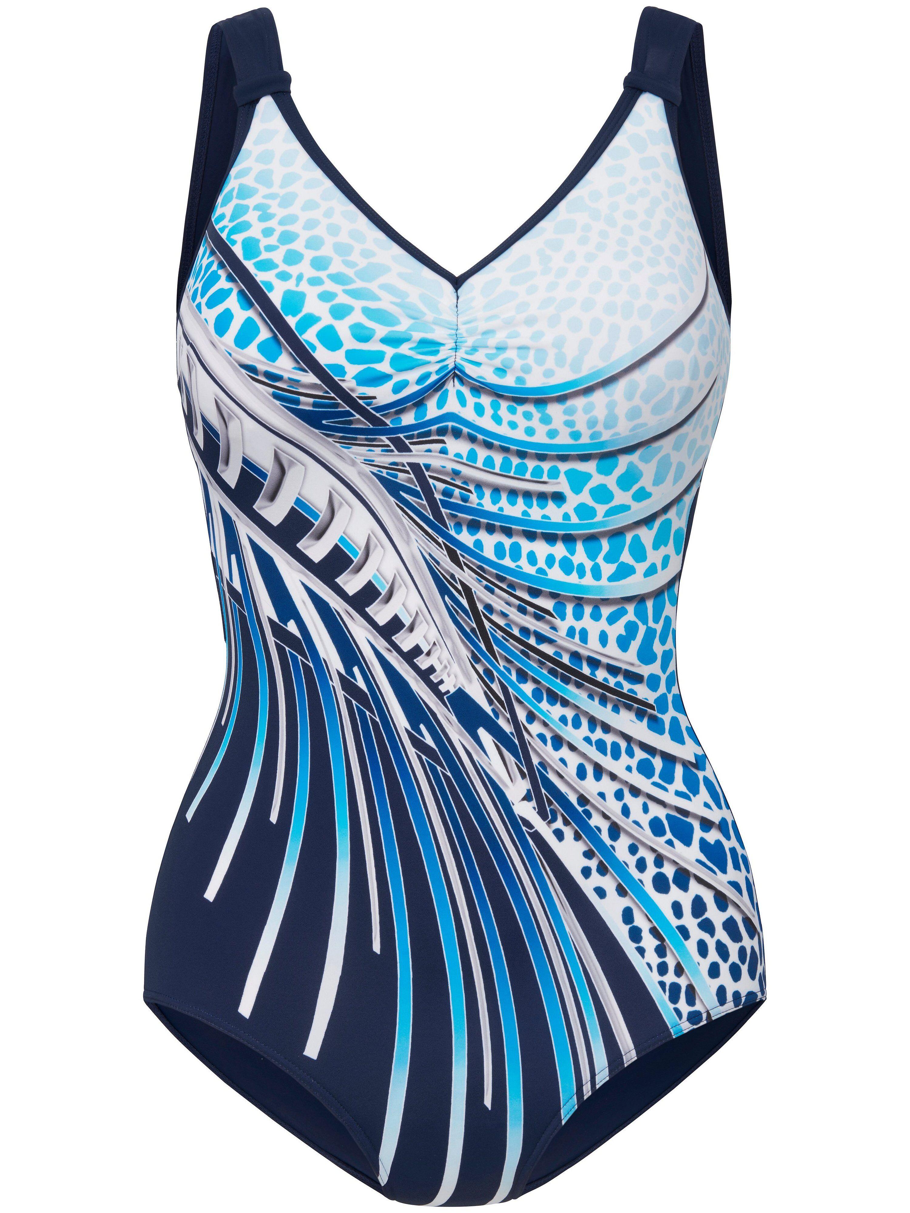 Sunmarin Le maillot bain avec fronces entre les bonnets  Sunmarin bleu  - Femme - 42