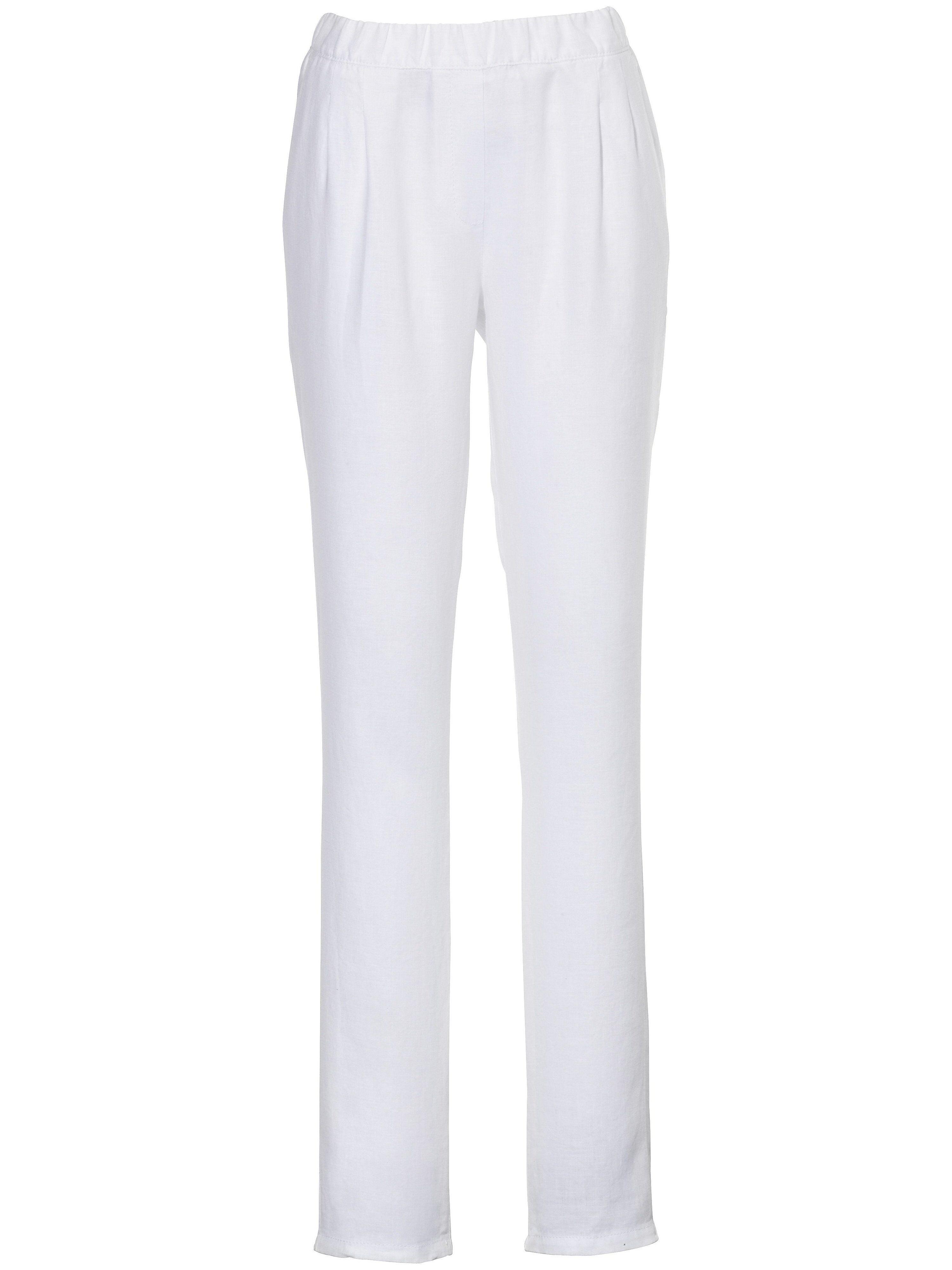Peter Hahn Le pantalon à pinces  Peter Hahn blanc  - Femme - 19