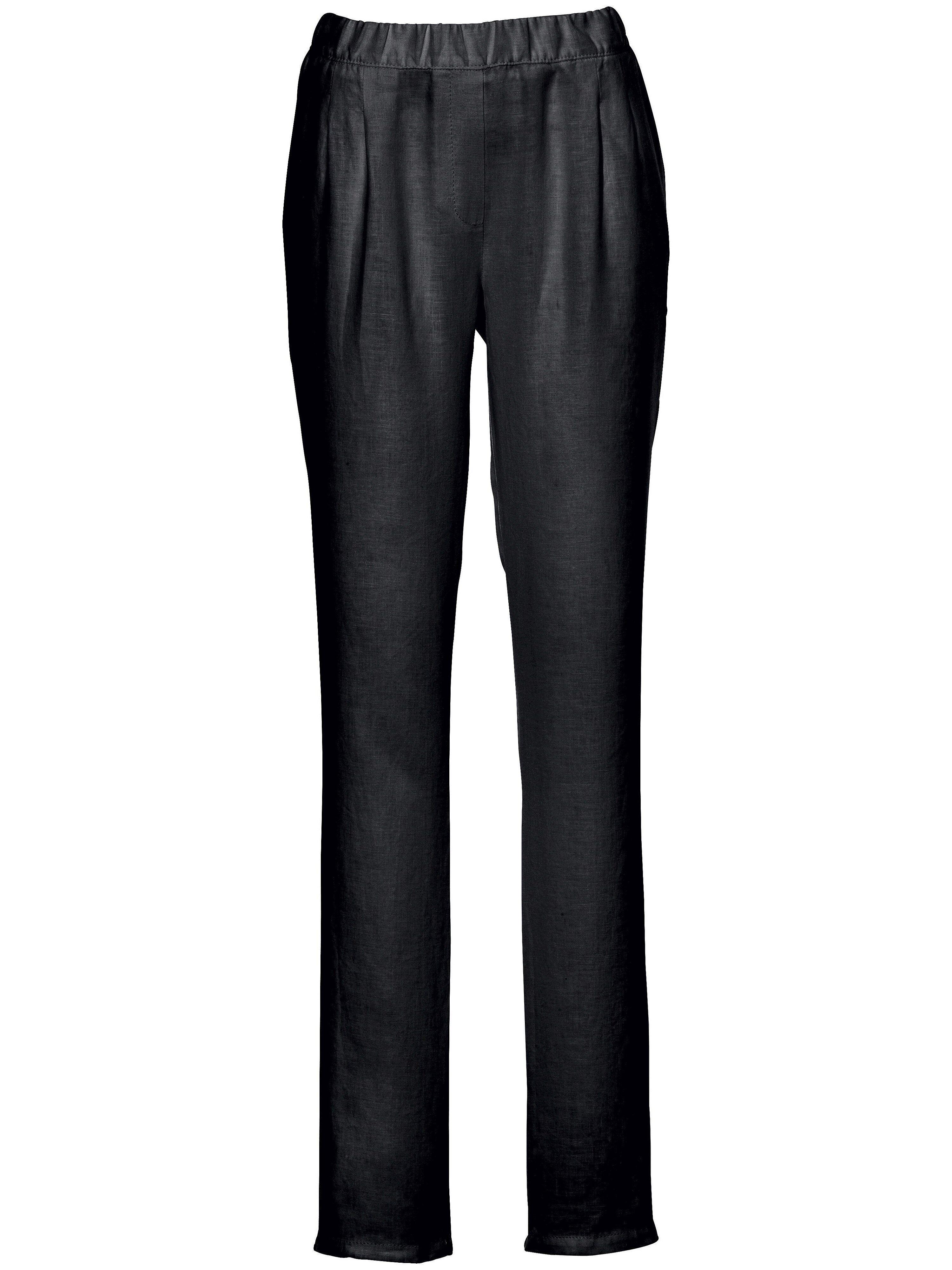 Peter Hahn Le pantalon à pinces  Peter Hahn noir  - Femme - 23