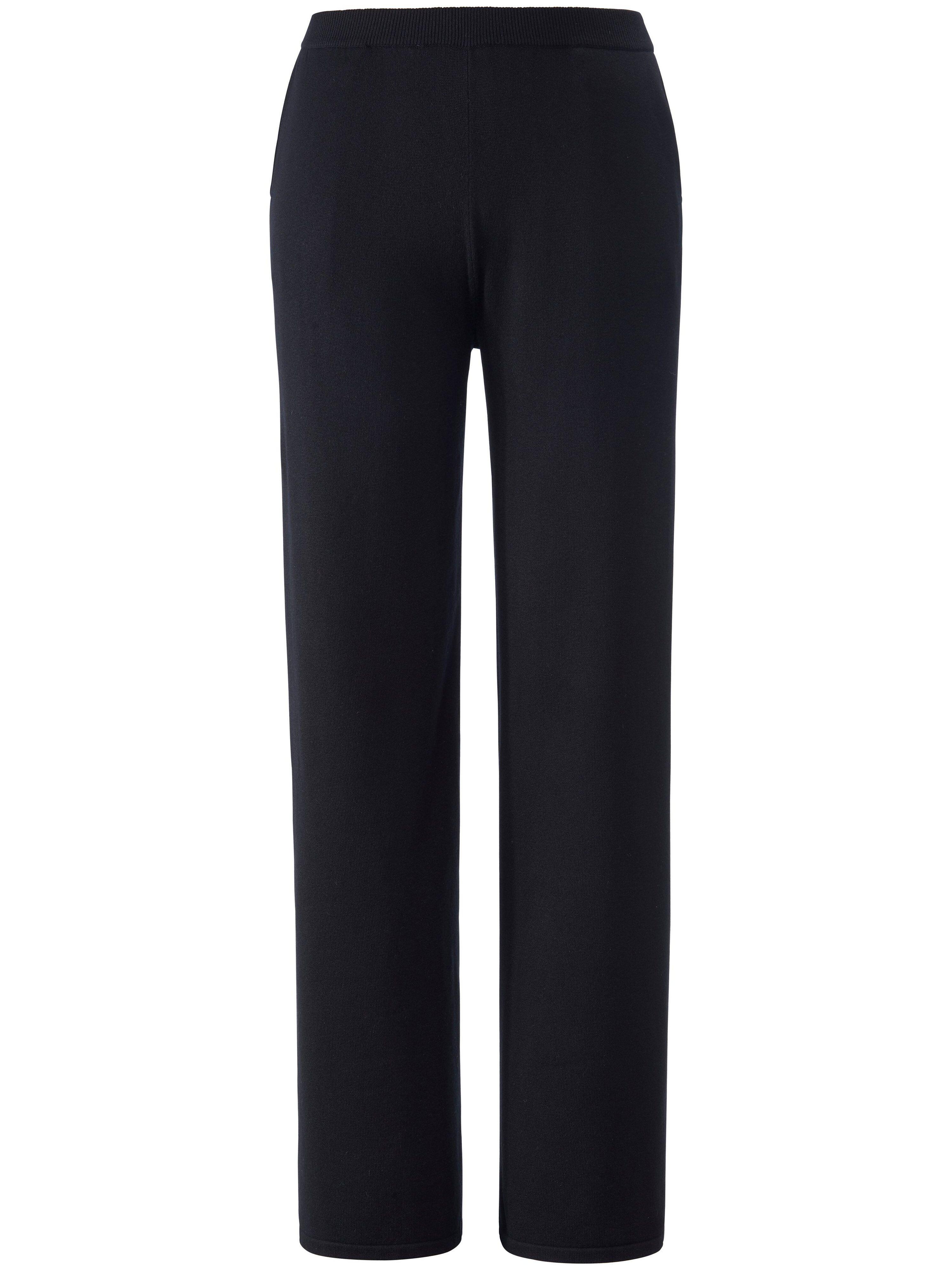 Emilia Lay Le pantalon en maille ligne droite  Emilia Lay noir  - Femme - 44